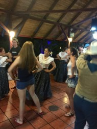 Dancing with a local group