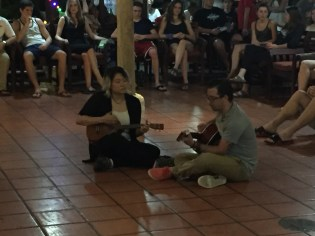 Darrean plays with Gabriel at the talent show