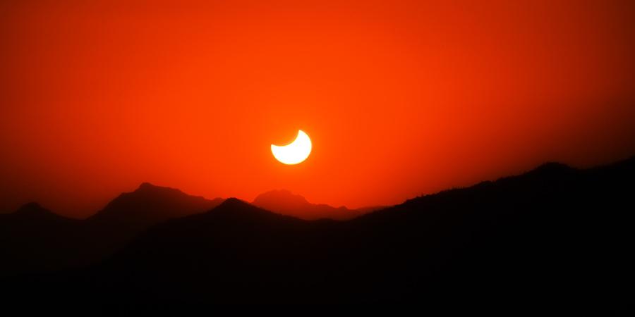 Солнечное затмение. Фото: Шон Паркер