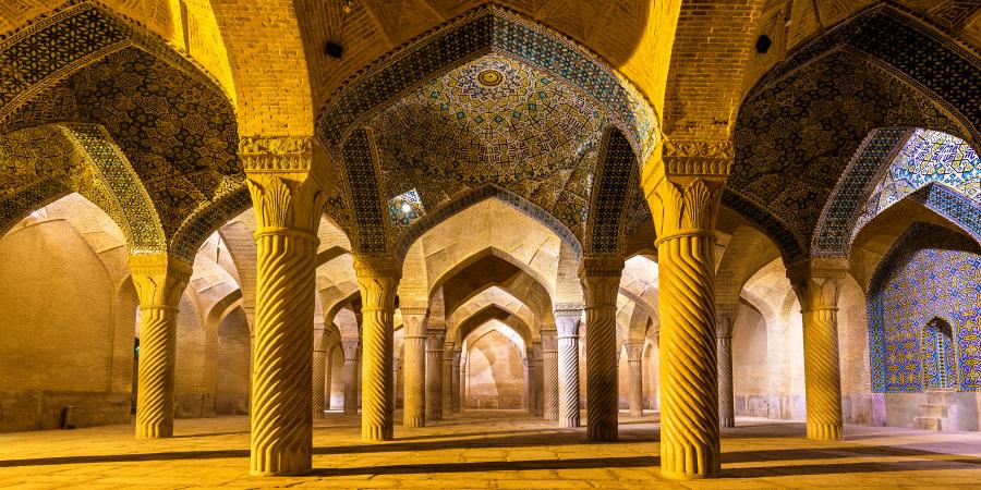 Панорама мечети Вакиль, Шираз, Иран