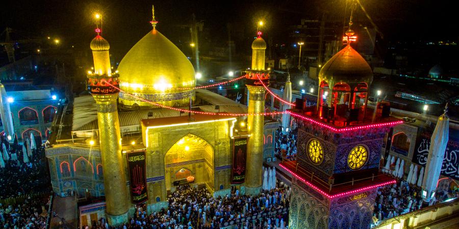 Харам Имама Али ночью, Наджаф, Ирак