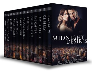 Midnight Desires: 13 Sizzling, Suspenseful, and Seductive Romances  available free for limited time on Nook and Kindle