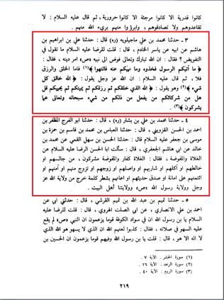 Uyun Akhbar al Ridha Imam Ridha hadith on tafweed