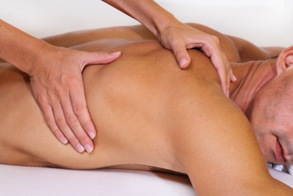 Man having massage. Relaxation, body care treatment, spa, wellness concept