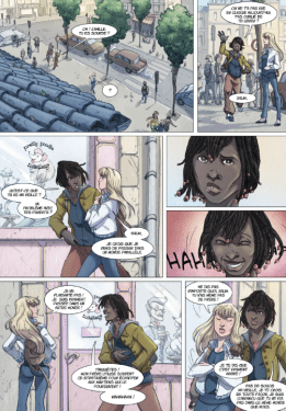 """Nous faisons ici la connaissance de Salim, et la page précédente glisse un léger clin d'œil à """"Alice au pays des merveilles """"."""