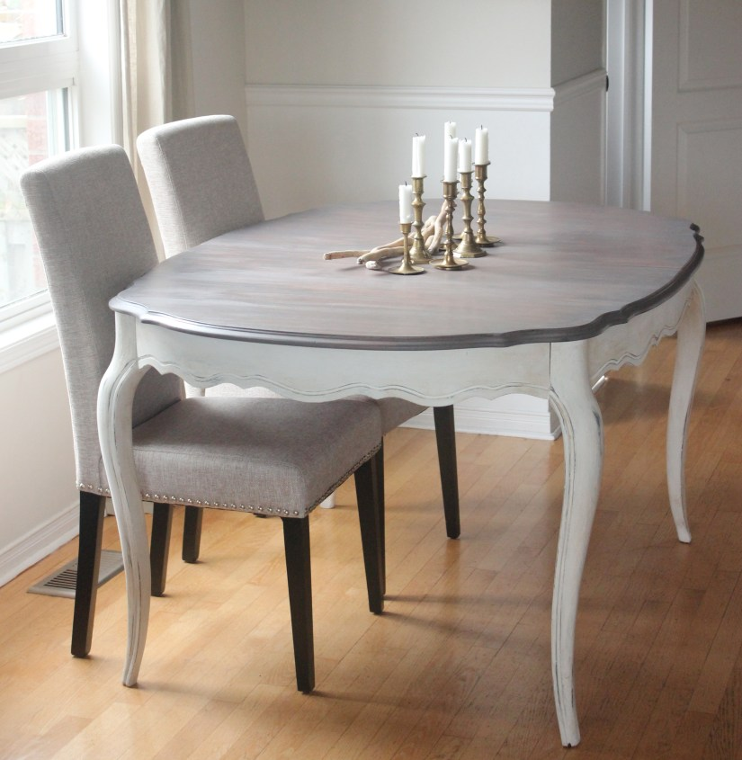 Before  After French Provincial Dining Table