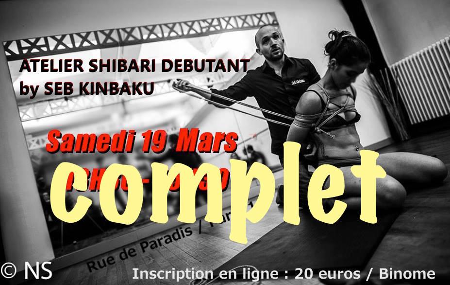 Atelier shibari debutant Paris