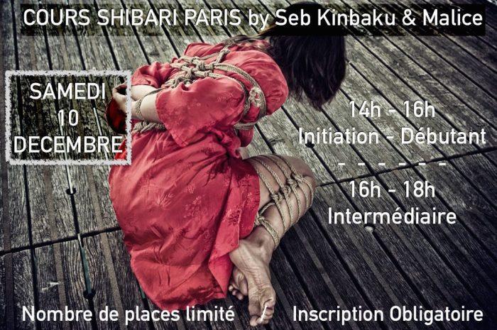 Cours Shibari Paris Décembre 2016