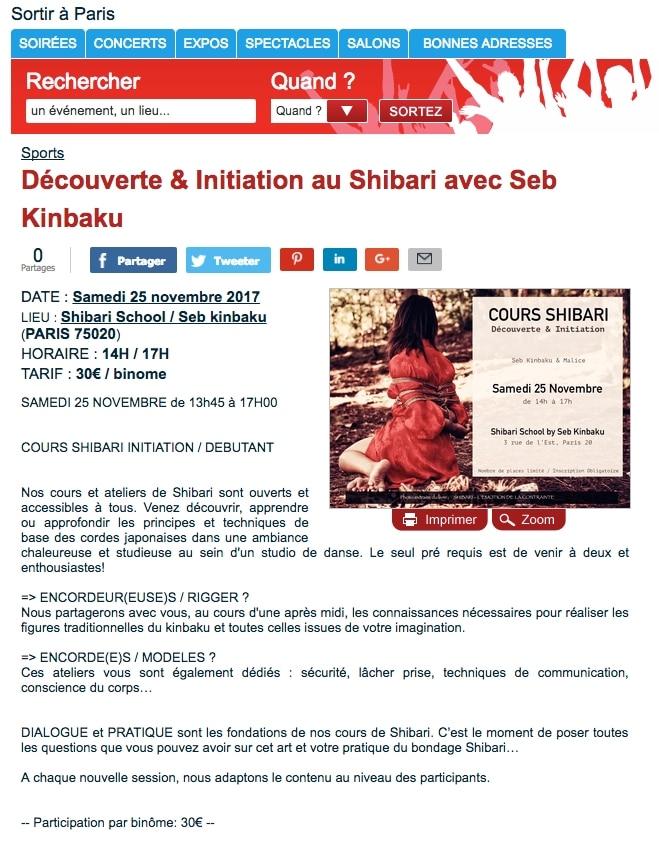 atelier shibari paris novembre 2017