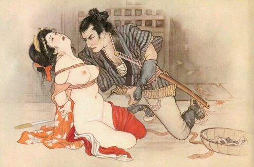 Illustration Shibari et kinbaku