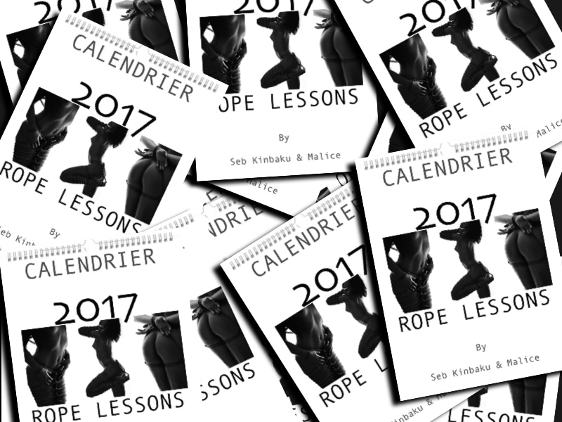 Calendrier 2017 : Rope Lessons by Seb Kinbaku