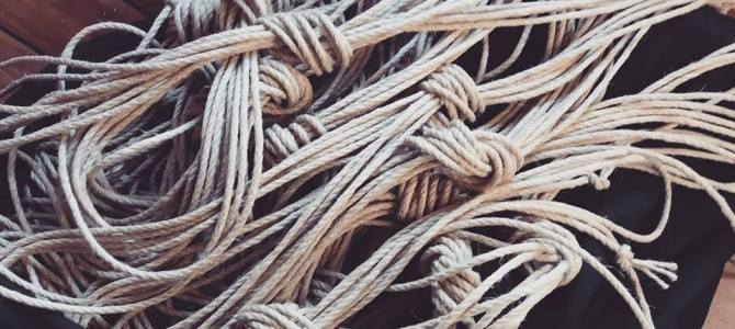 Cordes shibari kinbaku ou bondage
