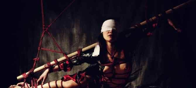 Nouvelle série photos de shibari avec bambou