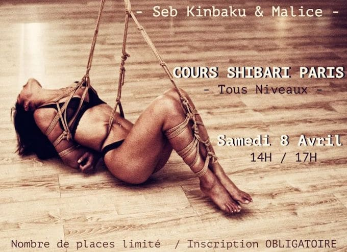 cours shibari paris avril 2017