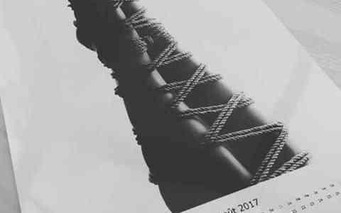 Extrait du calendrier shibari Rope Lessons by Seb Kinbaku
