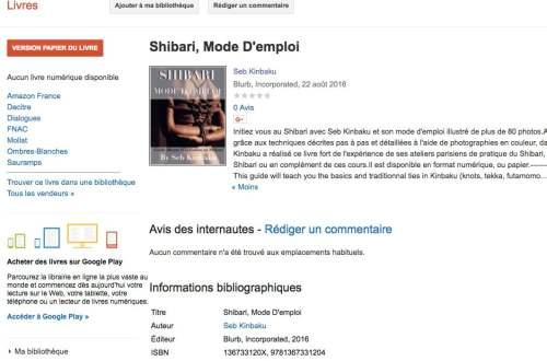 livre shibari de seb kinbaku
