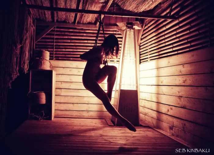 shibari suspension photo seb kinbaku