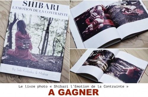livre photo shibari à gagner : Shibari l'emotion de la contrainte by seb kinbaku