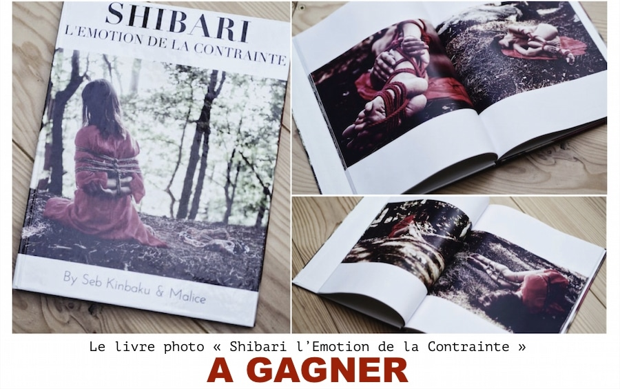 livre photo shibari à gagner : Shibari l'emotion de la contrainte by seb kinbaku