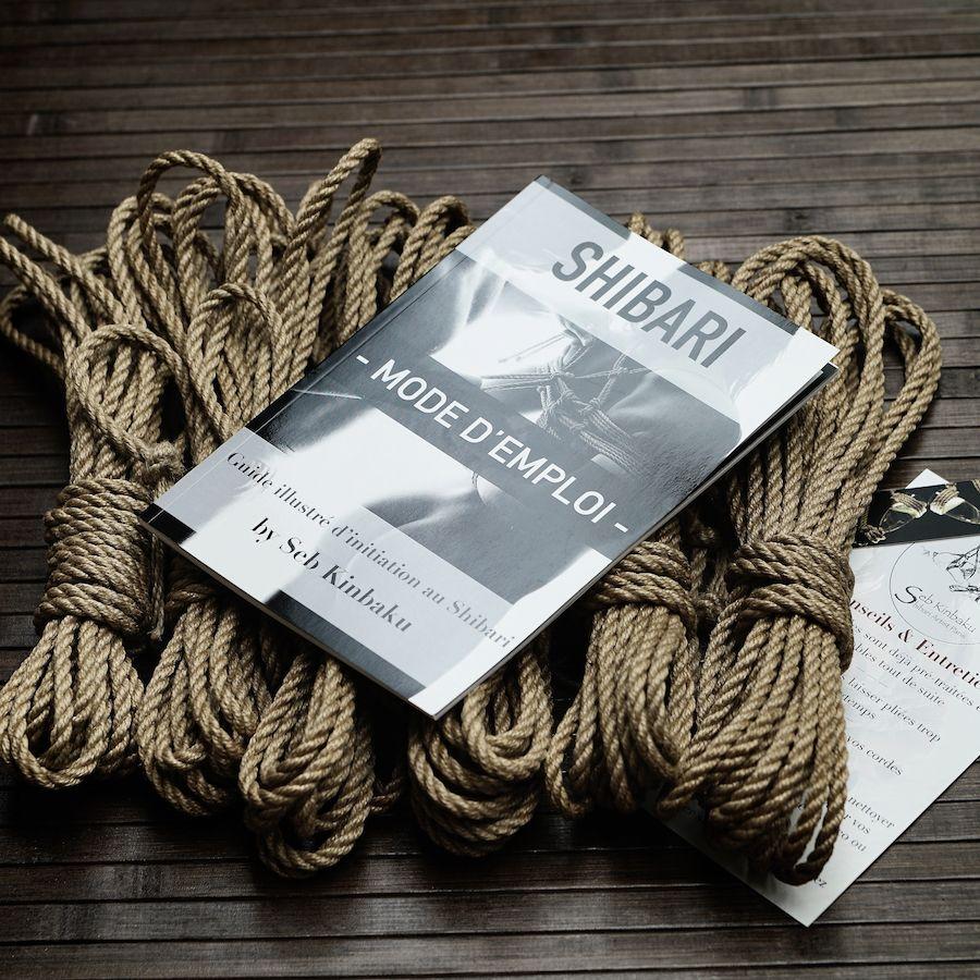 Kit débutant shibari : Lot 6 cordes shibari et guide shibari