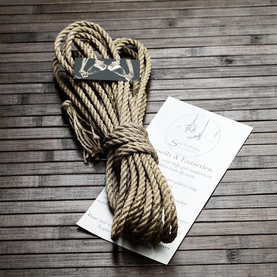 corde shibari jute naturelle : corde bondage japonais