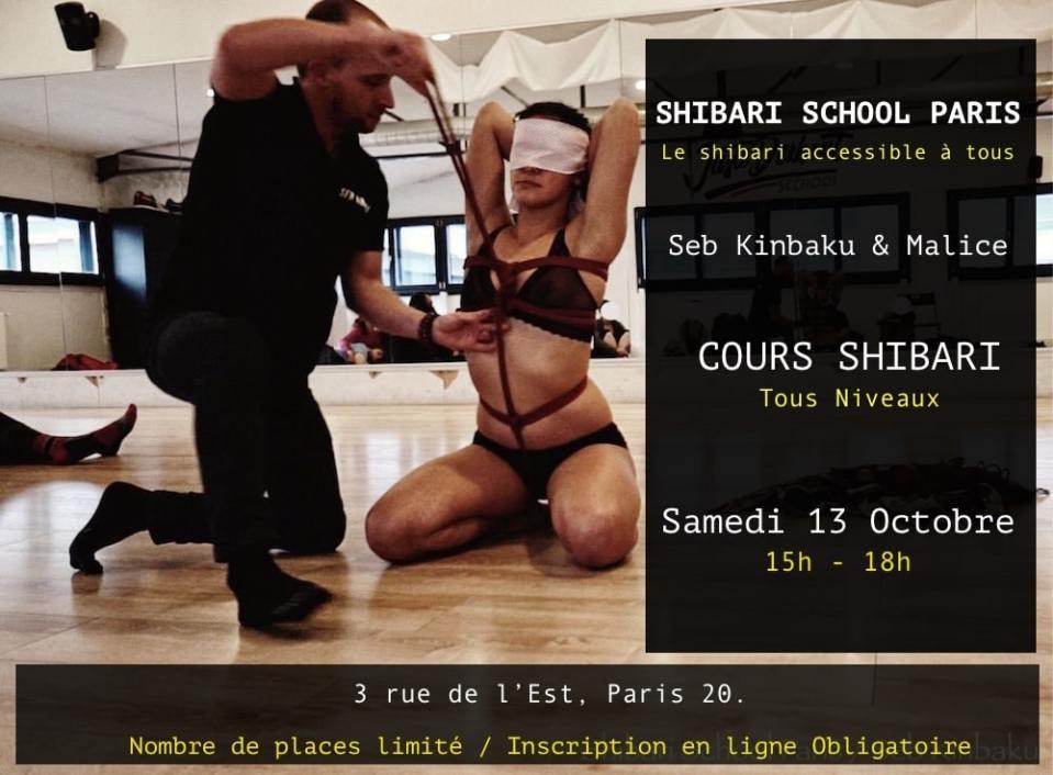 cours shibari paris : Octobre 2018 : Seb Kinbaku