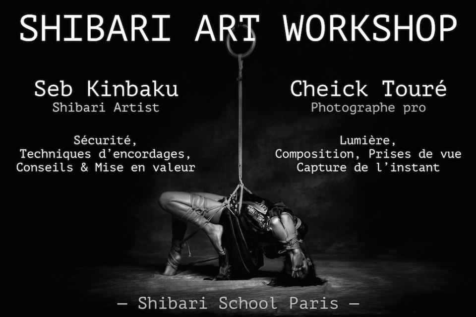 Shibari art workshop - Seb Kinbaku et Cheick Touré