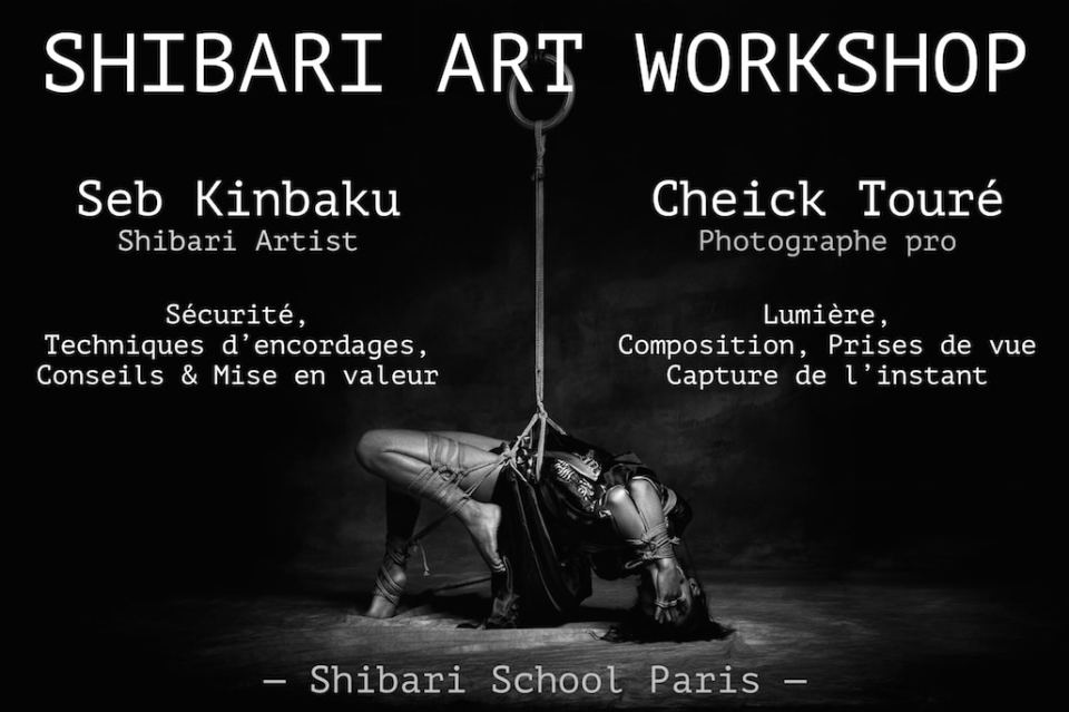 Shibari art workshop - Seb Kinbaku et Cheick Touré
