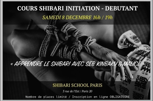 Cours de shibari à la shibari school paris