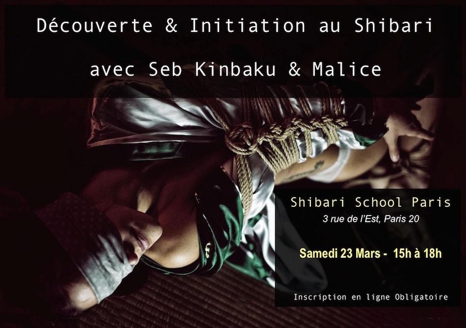 Cours de shibari par Seb Kinbaku à la shibari School Paris