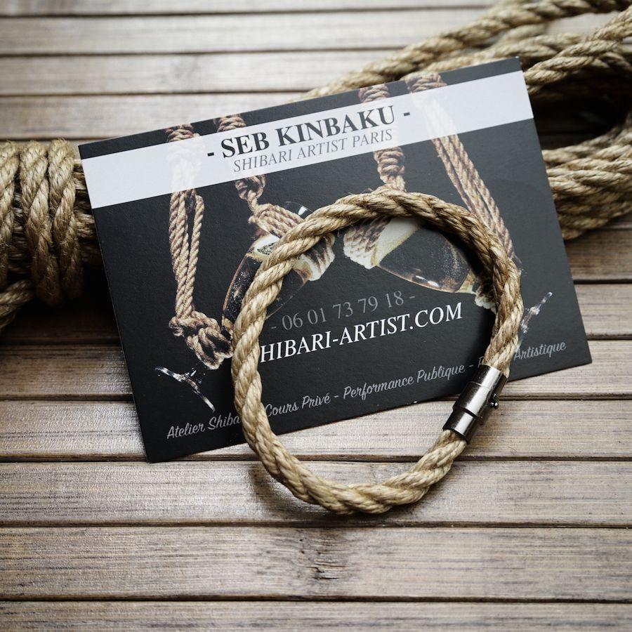 Bracelet shibari homme