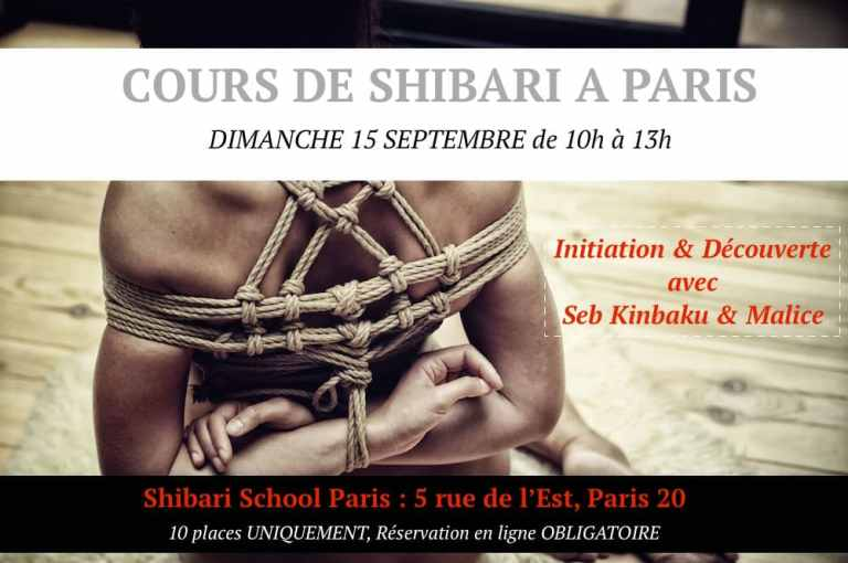 Cours de shibari à Paris avec Seb Kinbaku