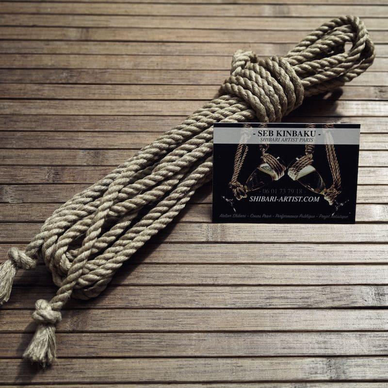 corde shibari chanvre naturel