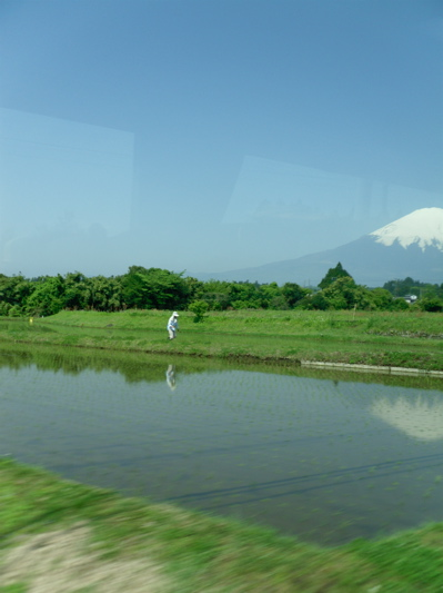 fuji from bus
