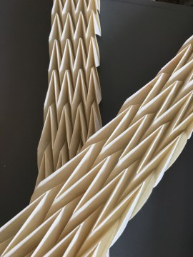 Paper origami pleat forms