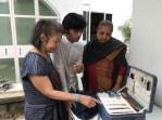 Yoshiko Wada, Priya Ravish, and a local designer Shani Himanshu (of 11-11 label) who creates handloomed denim at the Khoj Workshop in Delhi.
