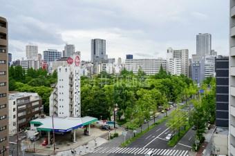 京町堀の1LDK、ちょい広バルとパークビューを揃えて。