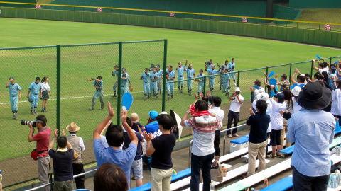 七高野球部 夏の甲子園・県予選、3年連続初戦勝利