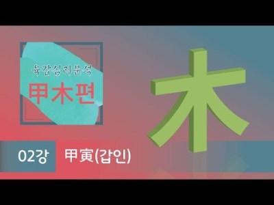 육갑심리분석 甲木편 – 2강 甲寅(갑인)