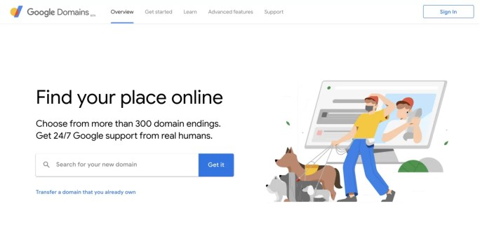 use google domains to buy your vegan business domain name