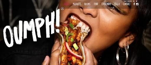 a screenshot of Oumph vegan website
