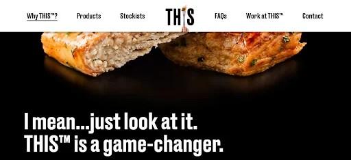 a screenshot of This vegan website