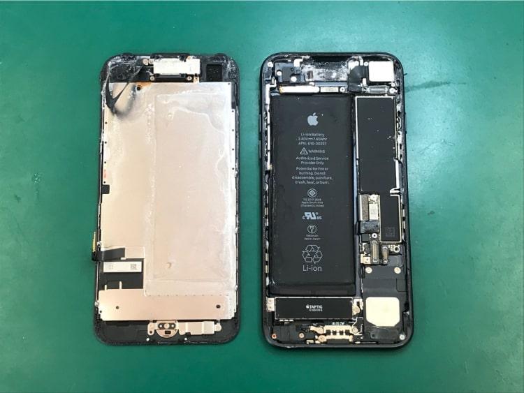 iPhone7海水プールで水没