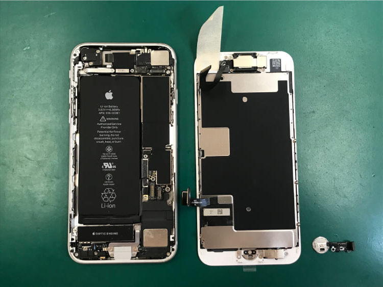 iPhone8の画面割れとボタン破損