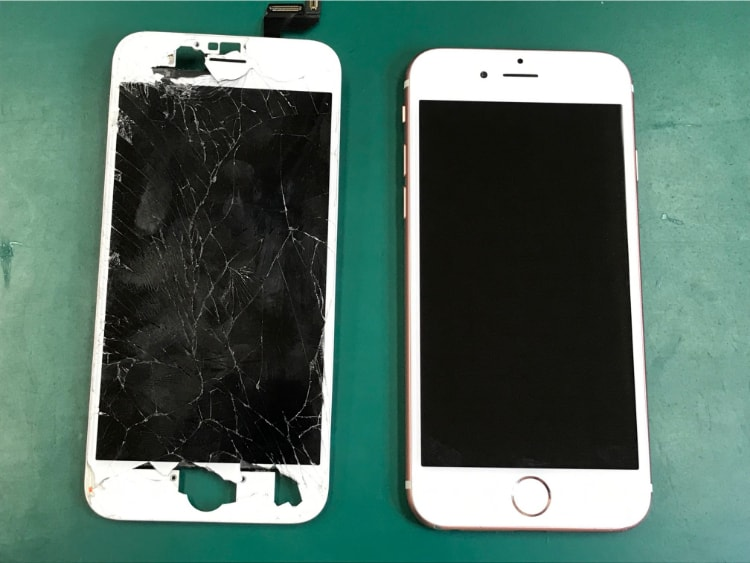 iPhone6s画面割れ修理後