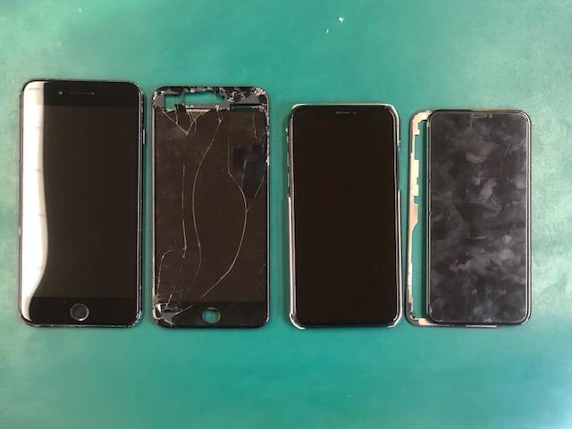 iPhoneXとiPhone7Plusの画面修理