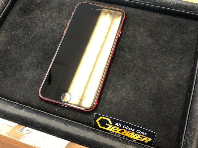 iPhoneSEガラスコーティング