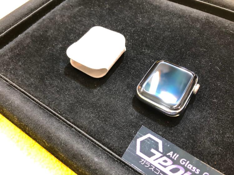 AppleWatch5エルメスをガラスコーティング
