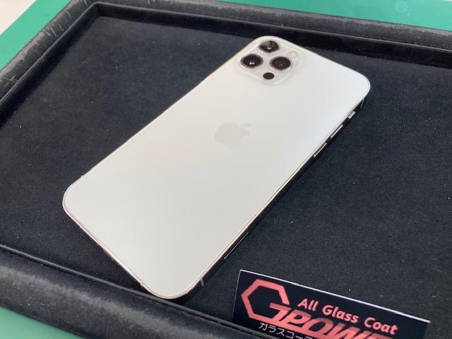 iPhone12Pro背面ガラスコーティング