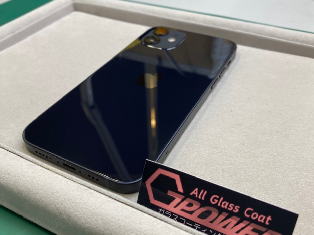 iPhone12をガラスコーティング